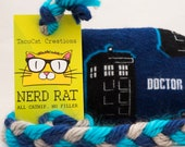 Doctor Who Tardis Stuffed NerdRat Cat Toy
