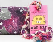 Cats in Space Pattern Catnip Stuffed MadRat Cat Toy