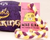 Minnesota Vikings Football Catnip Stuffed MadRat Cat Toy