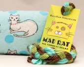 Cats on Blue Catnip Stuffed MadRat Cat Toy