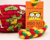 Teenage Mutant Ninja Turtles Catnip Stuffed NerdRat Cat Toy
