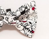 Dapper Cat Repeating Cat Pattern Bow Tie