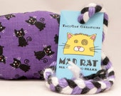 Black Cats on Purple Catnip Stuffed MadRat Cat Toy