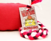 SUPER DURABLE Ruff Rats Canvas Duck Cloth Fully Stuffed Catnip Toy - Red