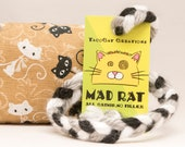 Black and White Cartoon Cats Catnip Stuffed MadRat Cat Toy