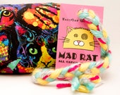 Rainbow Cat Pattern Catnip Stuffed MadRat Cat Toy
