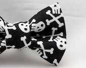 Dapper Cat Skull and Cross Bones Bow Tie