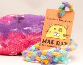 Pink and Purple Tie-Dye Catnip Stuffed MadRat Cat Toy