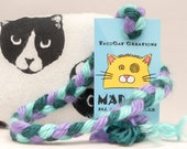 "Black and White ""Lucy"" Pattern Catnip Stuffed MadRat Cat Toy"