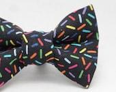 Dapper Cat Rainbow Sprinkles Pattern Cat Bow Tie