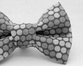 Dapper Cat Black and Gray Polka Dot Pattern Cat Bow Tie