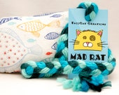 Fish in the Sea Catnip Stuffed MadRat Cat Toy