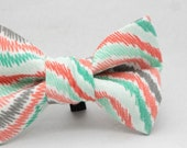 Dapper Cat Pastel Swirls Pattern Cat Bow Tie