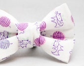Dapper Cat Cats and Yarn Balls Pattern Cat Bow Tie