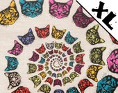 Rainbow Cat Spiral XL Refillable Catnip Mat