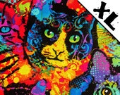 Rainbow Tie Die Cats XL Refillable Catnip Mat