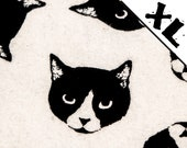 "Black and White ""Lucy"" Cat Pattern XL Refillable Catnip Mat"