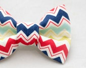 Dapper Cat Colorful Chevron Stripes Pattern Cat Bow Tie