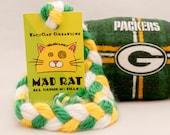 Green Bay Packers SportRat Catnip Stuffed MadRat Cat Toy