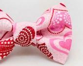 Dapper Cat Fancy Glitter Hearts Cat Bow Tie