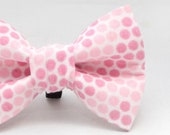 Dapper Cat Pink Polka Dots Pattern Cat Bow Tie