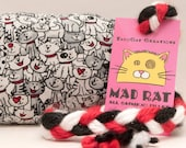 Black and White Cats Catnip Stuffed MadRat Cat Toy
