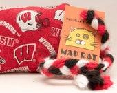 Wisconsin Badgers SportRat Catnip Stuffed MadRat Cat Toy