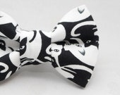 Dapper Cat Black and White Cats Pattern Cat Bow Tie