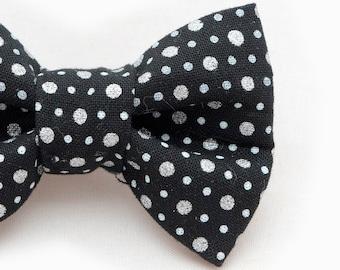 Metallic Polka Dot Dapper Cat Bow Tie
