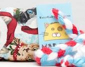 SMALL Christmas Kitties in Hats Xmas Catnip Stuffed MadRat Cat Toy