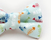 Multicolor Fish Bones Dapper Cat Bow Tie