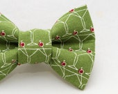 Martini Glass Pattern Cat Bow Tie