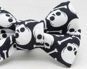Dapper Cat Skull and Bones Bow Tie