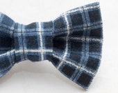 Dapper Cat Blue and White Plaid Cat Bow Ties #16085