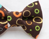 Dapper Cat Retro Earth Tones Cat Bow Tie