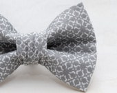 Dapper Cat Gray Classic Pattern Cat Bow Tie