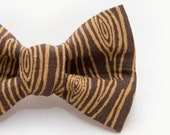 Wood Grain Dapper Cat Bow Tie