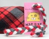 Red Plaid Pattern Catnip Stuffed MadRat Cat Toy