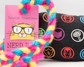 Marvel Avengers Character Icons Catnip Stuffed NerdRat Cat Toy