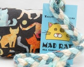 Colorful Cats Catnip Stuffed MadRat Cat Toy