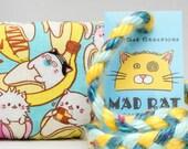 Bananya Cat Toss Pattern MadRat Catnip Stuffed Cat Toy
