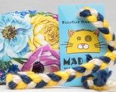 Bright Floral Pattern Catnip Stuffed MadRat Cat Toy