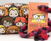 Harry Potter Chibi Characters Catnip Stuffed NerdRat Cat Toy