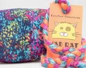 Rainbow Splash Pattern MadRat Catnip Stuffed Cat Toy