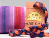 Rainbow Stripes Pattern MadRat Catnip Stuffed Cat Toy