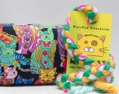 Rainbow Paisley Cats Catnip Stuffed MadRat Cat Toy