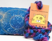 Gold & Blue Stellar Map Catnip Stuffed MadRat Cat Toy