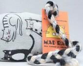 Gray Cats Catnip Stuffed MadRat Cat Toy