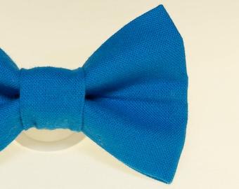 Dapper Cat Solid Blue Cat Bow Tie
