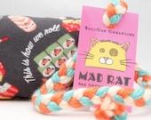 Happy Sushi Roll MadRat Catnip Stuffed Cat Toy